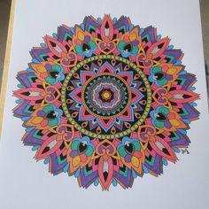 ColorIt Mandalas to Color Volume 1 Colorist: Carol Babbitt Ferguson #adultcoloring #coloringforadults #mandalas #mandala #coloringpages