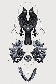 visualgraphic:  geometrical tattoo flashes.created by Hannes Hummel 2013 prints on sale! 50 x 70cm, framed and signed fine art prints.highly limited. 100 euro each + free shipping worldwide mailto:info@hanne...