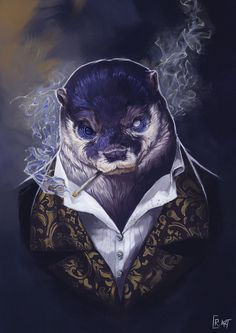 """ Connor Richardson  - """"Finished up my second animal character portrait, this one has been kicking my arse all week but I fee. Fantasy Character Design, Character Design Inspiration, Character Concept, Character Art, Concept Art, Dungeons And Dragons Characters, Dnd Characters, Fantasy Characters, Dnd Art"""