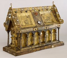 The Shrine of St. Amandus; The Walters Art Museum, Baltimore. Flemish, early 13th century with significant later additions.