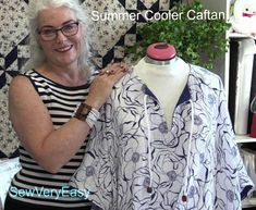 Summer Cooler (cotton caftan cover-up)! Sewing tutorial by @SewVeryEasy. There are two classic adult versions and a cute option for a child. Made in cool comfy Embrace double gauze 100% cotton fabric http://www.shannonfabrics.com/embrace?view=all. More on our blog: http://shannonfabrics.com/blog/2016/07/15/summer-cooler/ Enjoy!