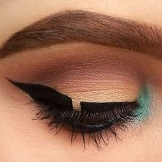 Here's just a pinch of color… | Colorful Graphic Eyeliner Is The Way To Take Your Look To New Levels