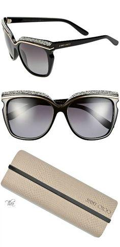 Jimmy Choo ● Retro crystal-encrusted Sunglasses