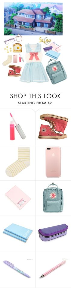 """Late for School"" by owlenstar on Polyvore featuring T. LeClerc, Converse, SELECTED, Warehouse and Fjällräven"