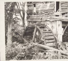 Old mill wheel at the Romford sawmill. :: Connecticut History Online