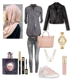 """""""Hijab style 2"""" by ness-11 ❤ liked on Polyvore featuring The Nu Vintage, adidas, Michael Kors, Vera Bradley, Smith & Cult and Yves Saint Laurent"""