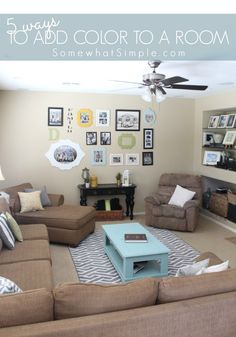 Easy Ways to Add Color to a Room - Somewhat Simple