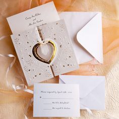 unique and elegant hearts embossed affordable folded wedding invitation kits EWRI008 as low as $1.39
