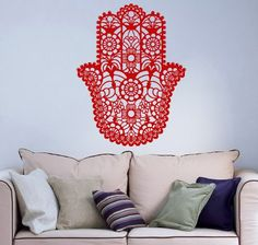 Hamsa Hand Fish Eye Indian Buddha Ganesh Wall Vinyl Decal Art Sticker Home Modern Stylish Interior Decor for Any Room Smooth and Flat Surfaces Housewares Murals Graphic Bedroom Living Room (3640) stickergraphics http://www.amazon.com/dp/B00IFDEK00/ref=cm_sw_r_pi_dp_91LUtb1PF83D8FA1