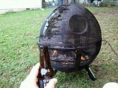 <3 death star fire pit!!! fire pits, death star, moon, bonfires, stars, barbecues, star wars, grills, backyards
