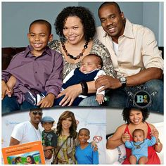 Tisha Campbell and Duane Martin. Family. How cute.