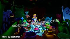 Amongst many new enhancements and surprises inside the Alice in Wonderland attraction at Disneyland, Alice is no longer absent from the tea party with the Mad Hatter and March Hare.