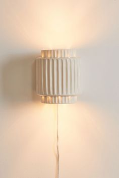 Tristan Ceramic Pendant Light | Urban Outfitters Ceramic Light, Ceramic Pendant, Plug In Wall Sconce, Wall Sconces, Sconces Living Room, Bedside Wall Lights, Bedroom Wall Lights, Pleated Lamp Shades, Plug In Pendant Light