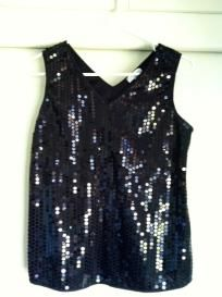 Black Sequence Blouse $24.00