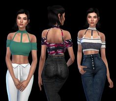 Leo 4 Sims: Pie croped top • Sims 4 Downloads