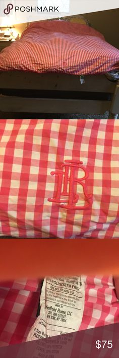 Ralph Lauren down comforter Pink and white checkered in excellent condition Polo by Ralph Lauren Other