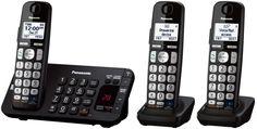 PANASONIC KX-TGE243B DECT 6.0, Expandable Cordless Phone, Ans. Syst, TCID, CWCID #Panasonic
