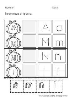 Clasa pregatitoare: Fisa recapitulare litere a, m, n, i