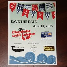 Save the date for the 22nd Annual Clambake with Lobster! June 10th-get your tickets today: http://ift.tt/25sv7pM #clambake @theblackwhale #theblackwhale #johnnysbasement #freitaspackagestore #lobster #uwgnb #june10 #kickoffsummer #clambake2016 #silentauction #newbedford