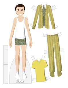 Michael vector paper doll