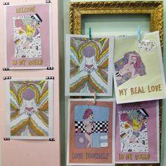 """Serie """"Girl Power"""" de @blasinarocher a la venta en @vintagebluevelvet (calle La Cadena 8, junto a plaza San Miguel y Coso) y @shuaveshop (calle San Jorge 19)."""