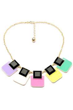 Fair Square Bib Necklace