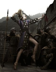 Great Wall of China photo shoot.  America's Next Top Model (ANTM) - Tyra Banks - Model: Chantal