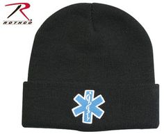 New EMT EMS Paramedic Knit Beanie Watch Cap w Embroidered Star of Life Logo   eBay