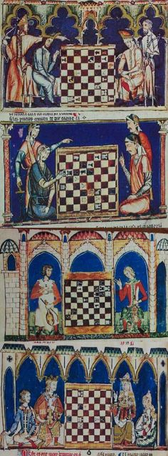 Book of Games by Alfonso X, 1283 Chapter on how the chess pieces capture