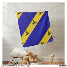 Flag of Barbados Receiving Blankets