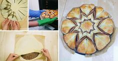 dessert tutorials and recipes - how to make braided nutella star bread recipe - Cooking - Handimania. Pretty dessert ideas for a crowd! The best thing to do with Nutella Nutella Star Bread, Keks Dessert, Just Desserts, Dessert Recipes, Bread Recipes, Cooking Recipes, Chocolate Flavors, Chocolate Spread, No Bake Treats