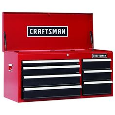 44 in 8 drawer glossy red roller cabinet top chest for 50188 craftsman