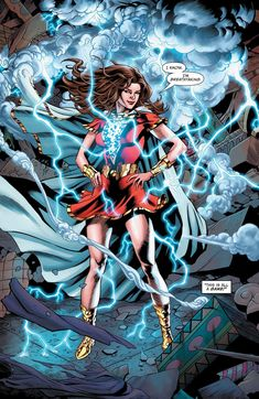 Issue comic online in high quality Marvel Dc Comics, Dc Comics Art, Comics Girls, Mary Marvel, Captain Marvel Shazam, Shazam Comic, Superman, Dc World, Female Hero