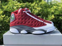 New Air Jordan 13 Red Flint Gym Red 2021 Jordan 13 Red, Jordan 13 Shoes, Jordan Retro, Air Max Sneakers, Sneakers Nike, Retro 13, Grey And White, Black, White Leather
