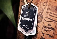 Republica: Logo brand tags print design