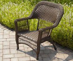 Garden Treasures Severson Steel Woven Seat Patio Chair