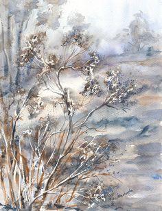 W zimowym ogrodzie - Maria Roszkowska WATERCOLOR