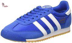 adidas Dragon Og, Sneakers Basses Homme, Bleu (Blue/Ftwr White/Gum), 47 1/3 EU - Chaussures adidas (*Partner-Link)
