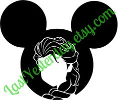 Elsa Mickey Head DIGITAL DOWNLOAD svg jpg png - by LastYesterday.etsy.com