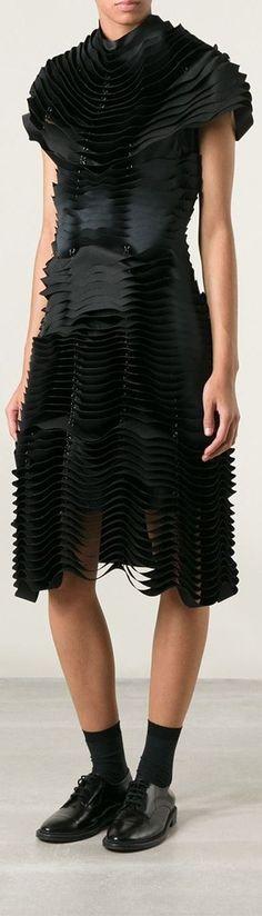 Comme Des Garçons Noir Kei Ninomiya tiered contour dress