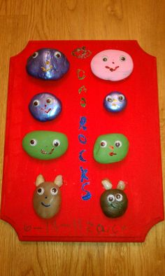"""Father's Day Gift - Dad """"Rocks""""   Rocks are our family members and the dogs at the bottom.  =)"""