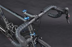 Busyman Bicycles Custom Bar Tape on Baum's GTR, X-Power Grey, Lava Grey, Custom CK Torquoise, Corretto