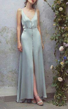 Off white sleeve less long silk maxi dress - women cloth's