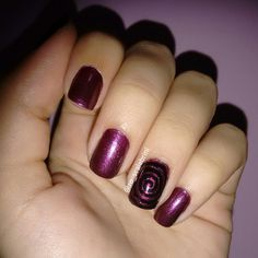 Nail Art, purple, spiral