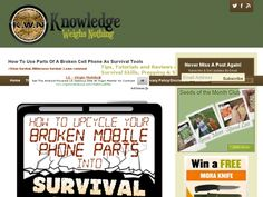 How to upcycle your broken mobile phone parts into survival tools