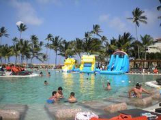Now Larimar Punta Cana: Blow up slide on Fridays