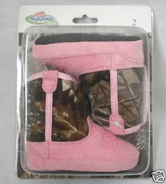 Team Realtree Baby Infant Pink Camo Cowboy Boots | eBay