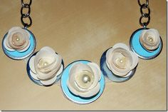 DIY- Duct Tape Rose Washer Necklace
