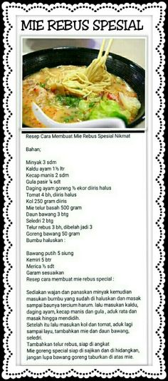 Cooking Time, Cooking Recipes, Asian Cake, Indonesian Cuisine, Malaysian Food, Simply Recipes, Recipe Cards, I Foods, Mee Rebus