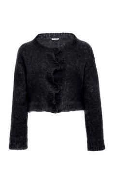 Get inspired and discover Miu Miu trunkshow! Shop the latest Miu Miu collection at Moda Operandi. World Of Fashion, Everyday Fashion, Miu Miu, Pullover, Knitting, Long Sleeve, Sleeves, Sweaters, Fashion Design